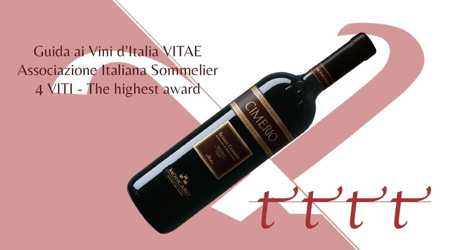 Guida ai vini d'Italia - 4 viti per il Cimerio